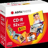 CD-R 700 MB (5er JewelCase) Agfa Photo 400005